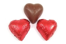 Chocolate Foil Hearts (Red)