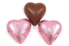 Chocolate Foil Hearts (Pink)