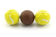 Chocolate Foil Tennis Balls