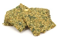 "Vegan ""Cheese"" Dill Kale Crackers"