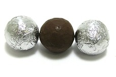 Chocolate Foil Balls (Silver)