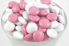 Pink and White M&M's