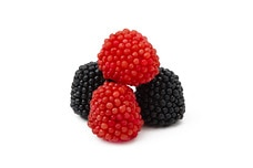 Gummy Red and Black Raspberries