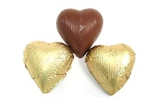 Chocolate Foil Hearts (Gold)