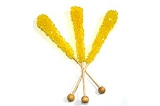 Yellow Rock Candy Sticks (Unwrapped)