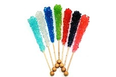 Assorted Rock Candy Sticks (Unwrapped)