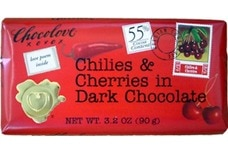 Chocolove Dark Chocolate Bar with Chilies and Cherries