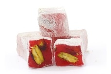 Pomegranate and Pistachio Turkish Delight