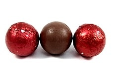 Chocolate Foil Balls (Red)