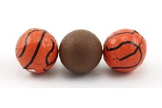 Chocolate Foil Basketballs