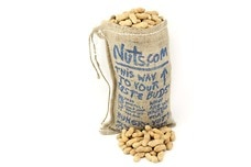 Burlap Bag of Peanuts
