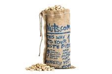 Burlap Bag of Pistachios