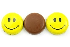Chocolate Foil Smiley Faces