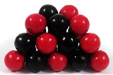 Red and Black Sixlets