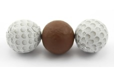 Chocolate Foil Golf Balls