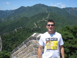 Trying to do my part spreading the word about Jericho at the Great Wall in China.