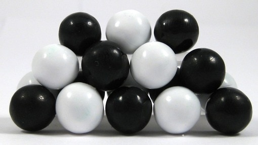 Black and White Sixlets