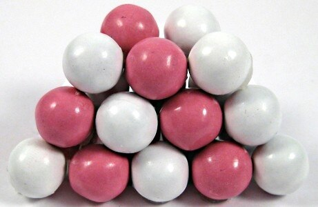 Pink and White Sixlets