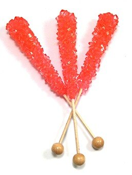 Pink Rock Candy Sticks (Unwrapped)