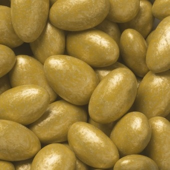 Lustrous Gold Almonds