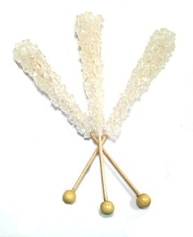 White Rock Candy Sticks (Unwrapped)