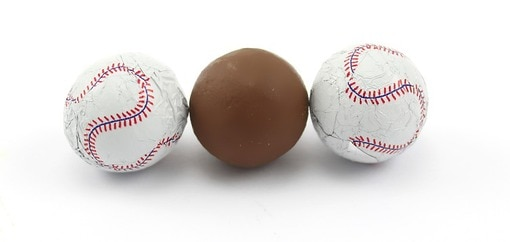 Chocolate Foil Baseballs
