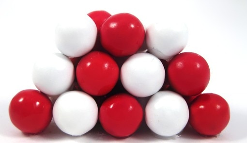 Red and White Sixlets