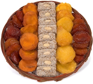 Dried Fruit Column Platter