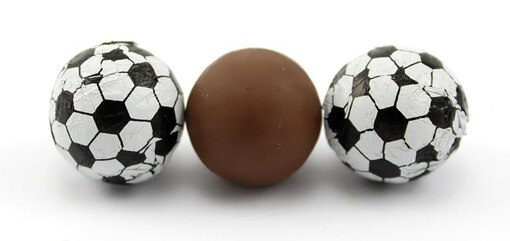 Chocolate Foil Soccer Balls