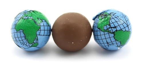 Chocolate Foil Earth Balls