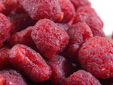 Dried Red Raspberries