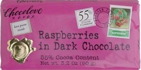 Chocolove Dark Chocolate with Raspberries Bar