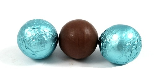 Chocolate Foil Balls (Light Blue)