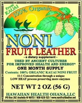 Organic Noni Fruit Leather