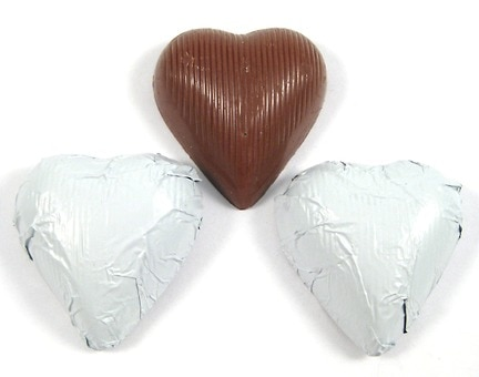 Chocolate Foil Hearts (White)