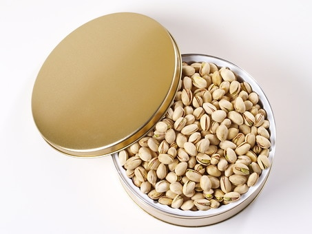 Natural Pistachio Gift Tin (2 lbs.)