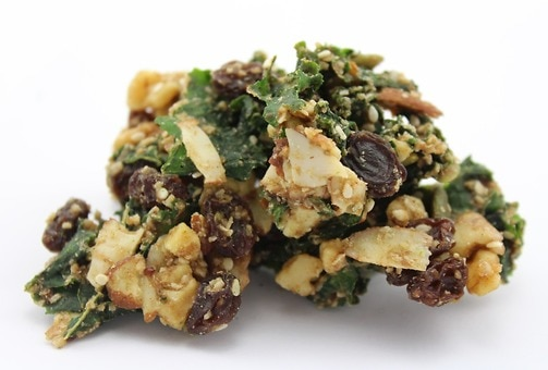 Raisin Coconut Kale Granola