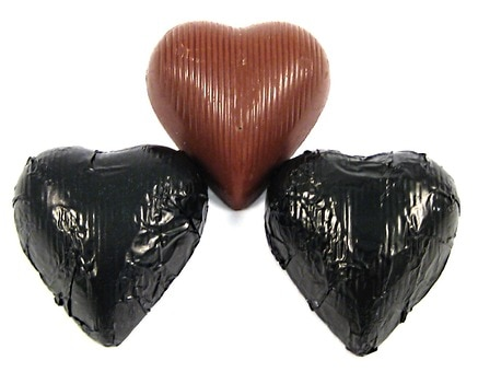 Chocolate Foil Hearts (Black)