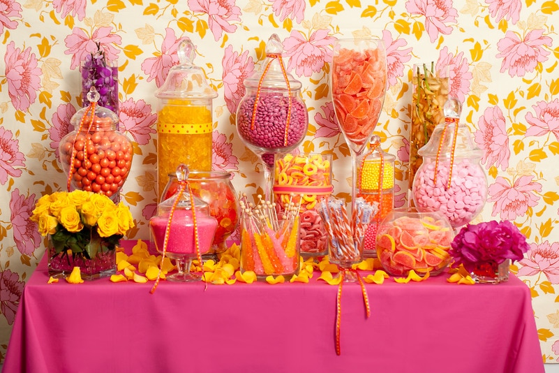 Hot Pink Candy Buffet