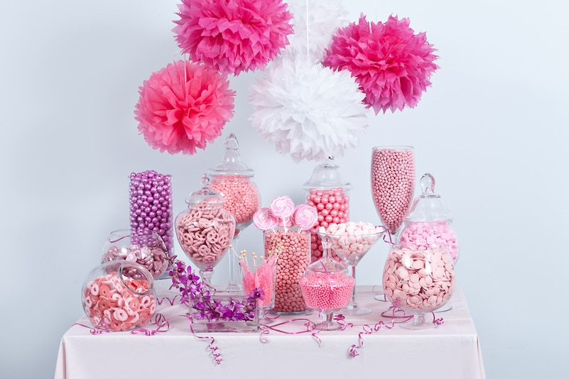 Pink Candy Buffet — Candy Buffets — Wedding Candy — Nuts.com