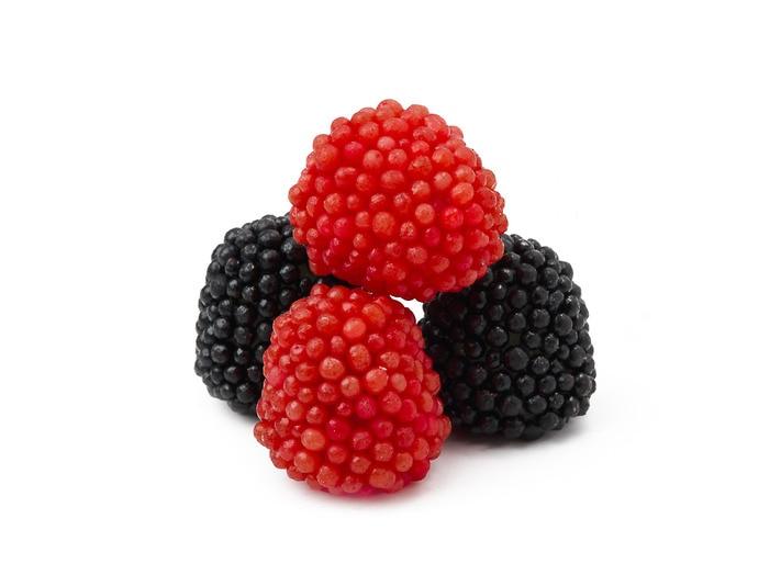 Gummy Red and Black Raspberries