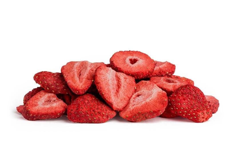 Organic freeze dried fruit