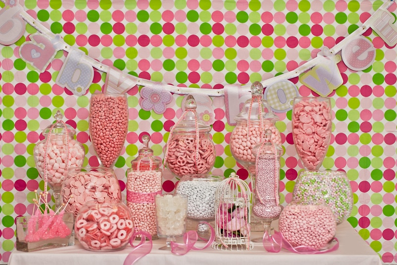 Baby Girl Shower Candy Buffet Candy Buffets Wedding Candy Nuts