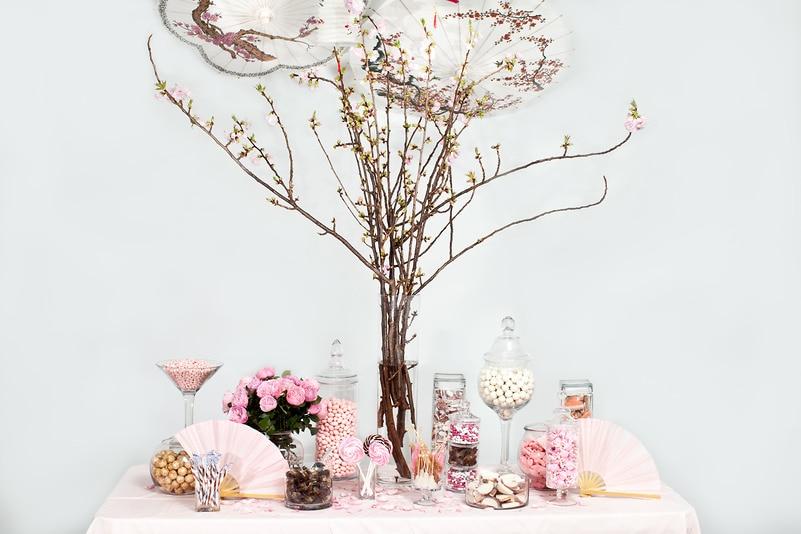 Cherry Blossom Candy Buffet — Candy Buffets — Wedding Candy