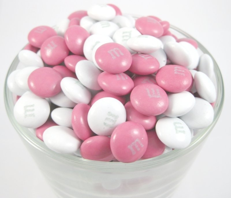 Pink And White M M S Chocolates Sweets Nuts Com
